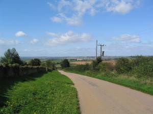 View down Manor Road, Nevill Holt
