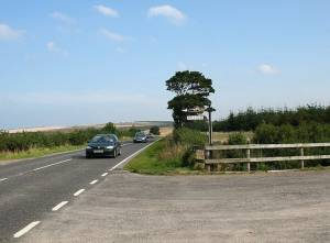 East of Cullen, the lane to Dytach