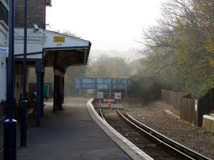 Shanklin station - the end of the line.