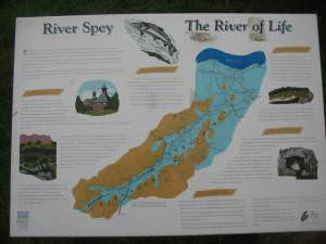 River Spey information board