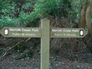 Norfolk Coastal Path Waymarker
