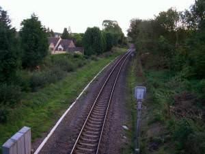 Railway line near Aston Magna