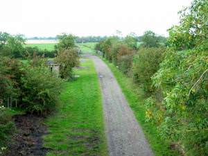 Farm track on the old Waverley line, Newtown of Rockcliffe