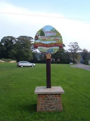 North Runcton village sign