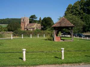 Eastnor Church and village green