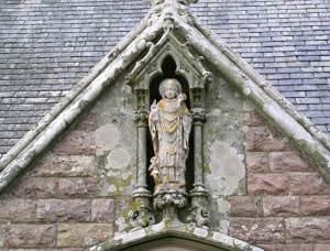 A statue of St Nicholas, St Nicholas Church, Nicholaston