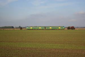 Train on Croft Marsh