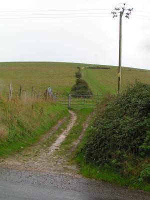 Footpath leading up onto the Chalk Downs