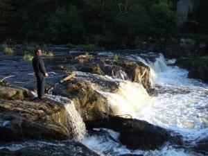 Cenarth Falls at dusk