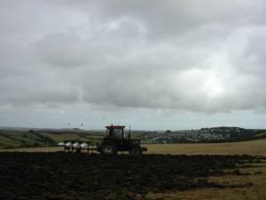Ploughing in Malborough parish