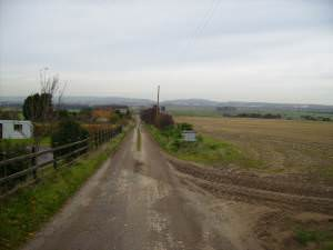 The track to Woodhouse Farm near Flixton