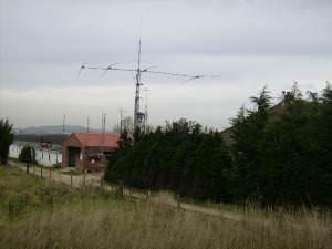 Amateur Radio mast and aerial near Flixton
