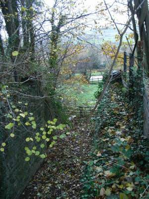 Former culvert/ cattle creep