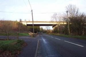 The bridge of the A 417 over the A 435 near Cirencester.