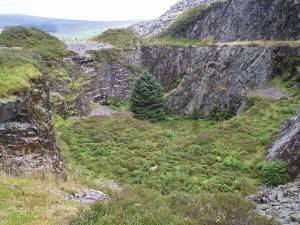 Pit at Rosebush slate quarry
