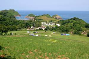 Campsite above Watermouth.