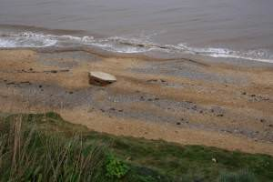 Fallen pillbox, Cromer