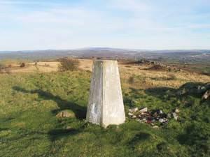 Trig pillar on Mynydd Llangyndeyrn