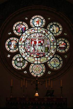 Holy Trinity, Old Wolverton, Bucks - East window