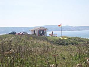 Lifeguard station on Gwithian Towans