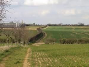 The Viking Way heading to Greetham