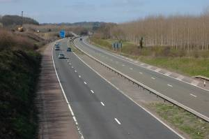 M50 approaching Junction 2
