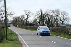 Highampton: the A3072 road to Bude