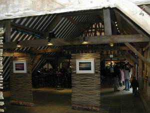 Photographic art inside the barn