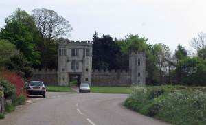 Gate house at entrance to Shute House grounds