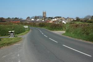 Approaching Kilkhampton from the east