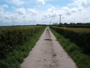 Footpath to Moss House Farm