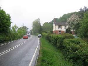 Looking NE on the A35 near Kilmington