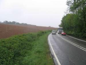 Looking SW on the A35 near Kilmington