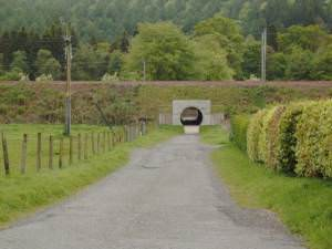Small tunnel under the railroad tracks in Beattock