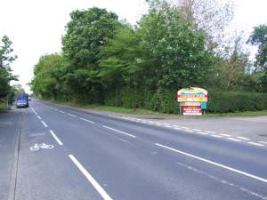 Junction on Old A12 to Caravan Park