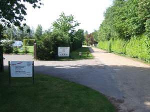 Entrance to The Camping and Caravanning Club Campsite