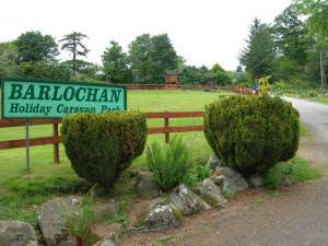 Entrance to Barlochan Caravan Park