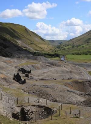 Old lead mines near Cwmystwyth