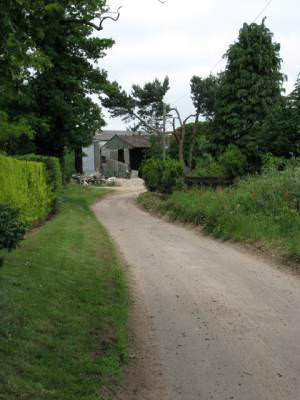 Approach to Stonegate Farm, Spa Lane