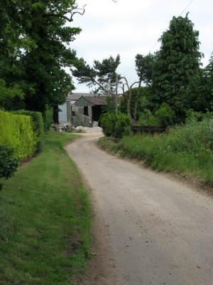 Approach to Stonegate Farm, Spa Lane