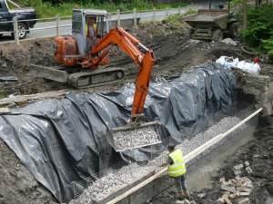 Remedial work at Clyne Locks