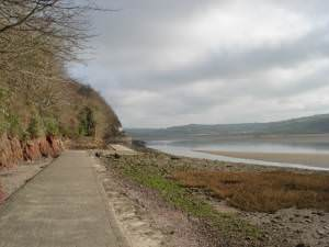Path towards the boathouse at Laugharne