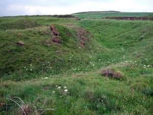 Earthworks near Pwll Caerog