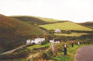 Millook, looking inland