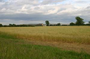 Across the fields to Crow Hill farm