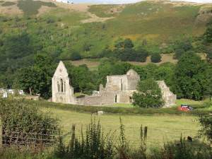 The ruins of Valle Crucis Abbey