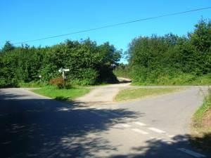 Long Down road junction