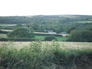 Valley of Camrose Brook near Summerhill Mill