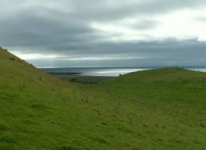 From Castell- bach bridleway to Llanrhystud beach