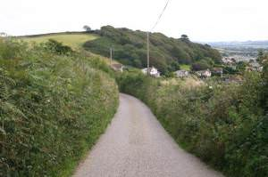 Heading down to Braunton from Fairlinch Cross